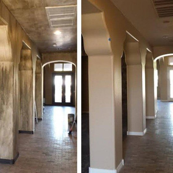 Before and After Interior Residential Painting | Arizona Painting Company
