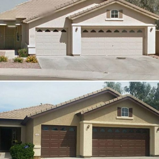 Before and After Exterior Residential Painting | Arizona Painting Company