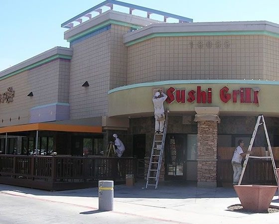 Scottsdale Strip Mall Painting Project | Scottsdale Arizona | Commercial Exterior Painting | Arizona Painting Company