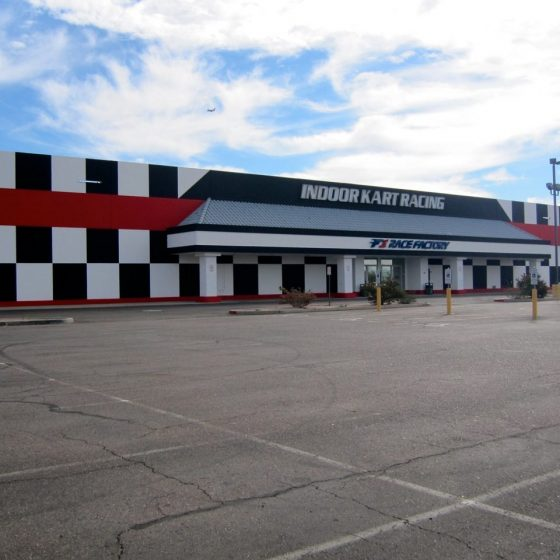 Indoor Kart Racing Commercial Painting Project | Commercial Exterior Walls Painting | Arizona Painting Company