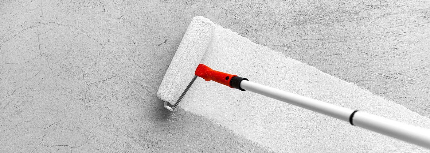 White Paint Applied to Wall with Paint Roller | Residential & Commercial Painting Services | Arizona Painting Company