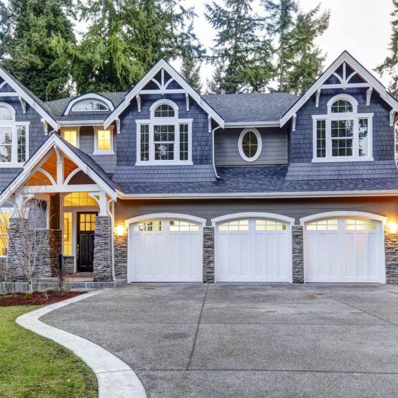 home with white exterior trim color