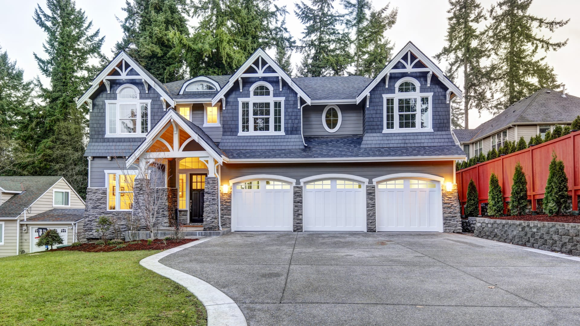 home with white exterior trim color